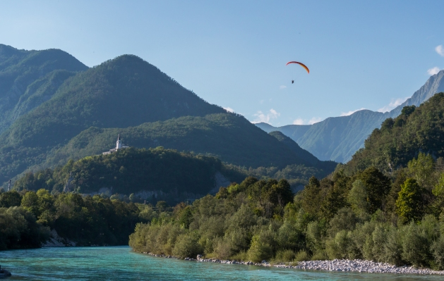 Soca Eslovenia pesca a mosca